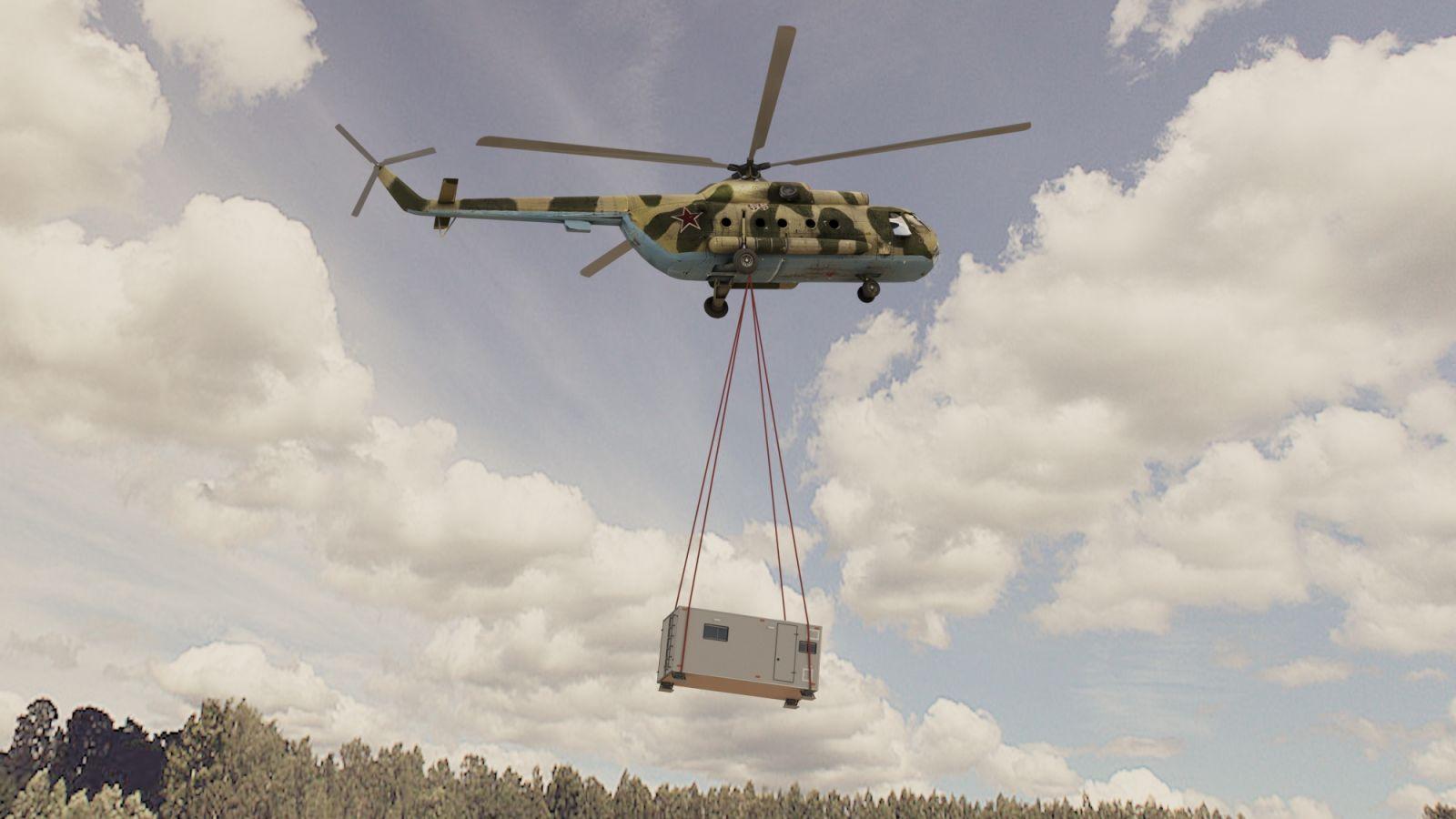 Перевозка кунга вертолетом