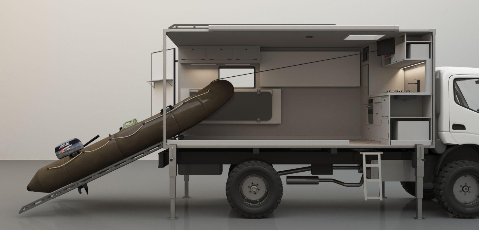 Съемный жилой модуль на грузовк
