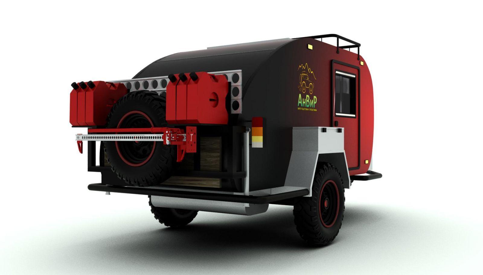 Крепление запсного колеса, teardrop, off road trailer