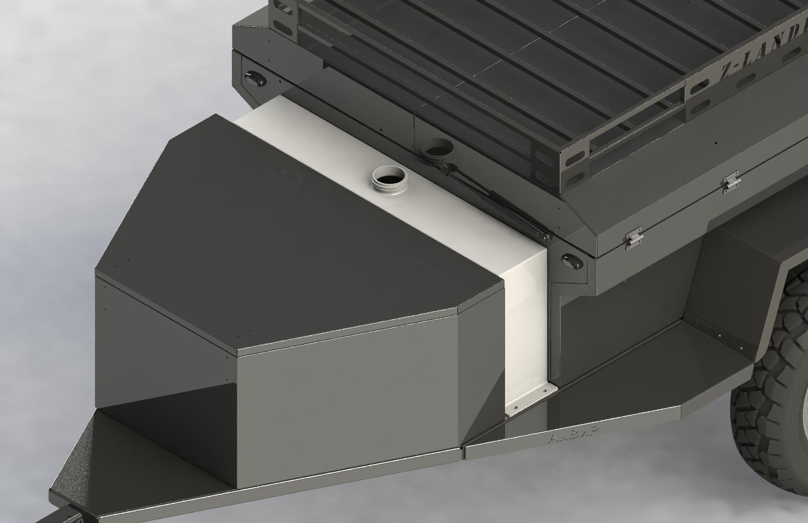 бак для воды, sierra 4x4, внедоржный прицеп, прицеп для уаз
