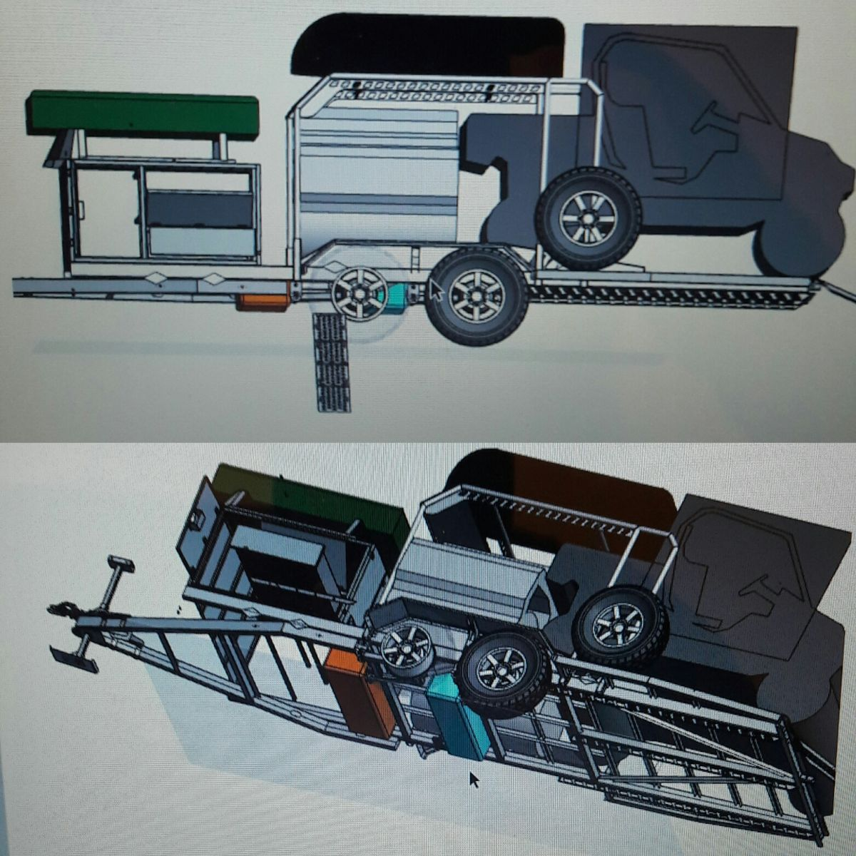 3Д модель прицепа